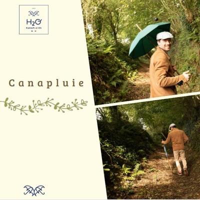 ☂️La boutique☂️  Avez-vous pensé à la Canapluie pour vous accompagner pendant vos balades ?🌿 Grâce à son parapluie combiné à un bâton de marche en châtaignier, vous serez à l'abri en cas d'averse pendant votre balade🌦☂️