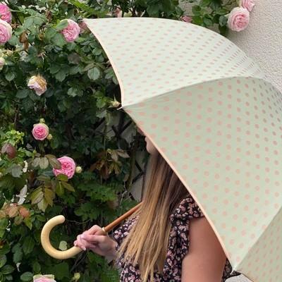 ☂️La Boutique☂️  Cette semaine nous vous présentons une nouveauté aux couleurs pastel pour patienter jusqu'à l'arrivée de l'été dans quelques jours☀️  Vous pouvez retrouver tous nos nouveaux modèles sur notre site internet.  #madeinfrance #parapluie #été #pastel